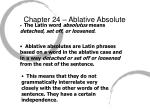 chapter 24 ablative absolute