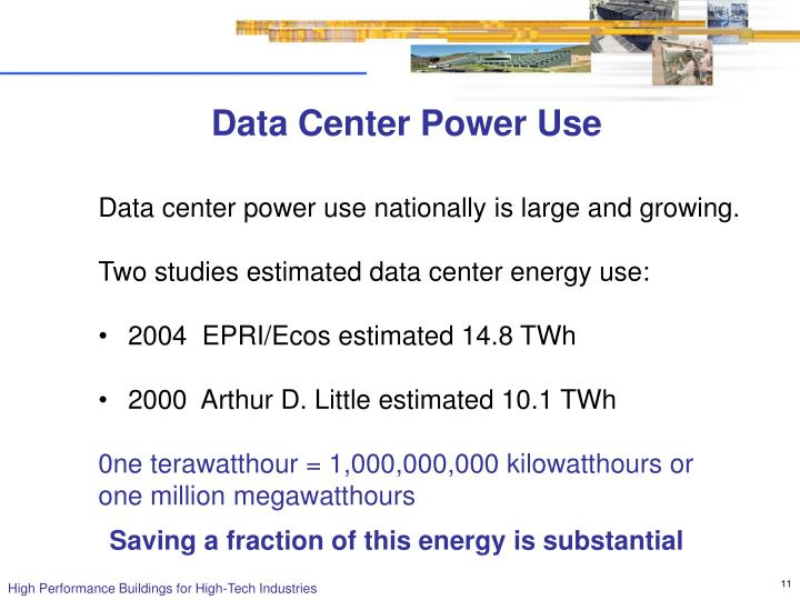 Data Center Power Use