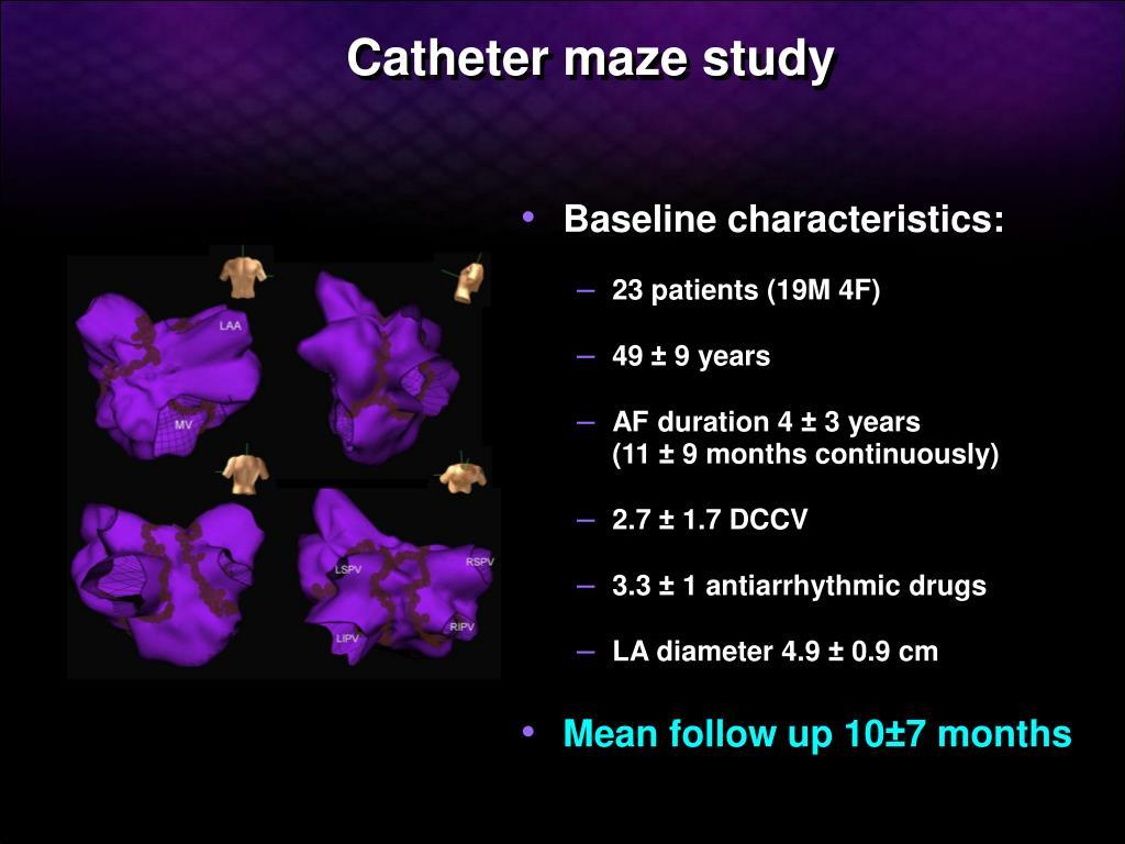 Catheter maze study