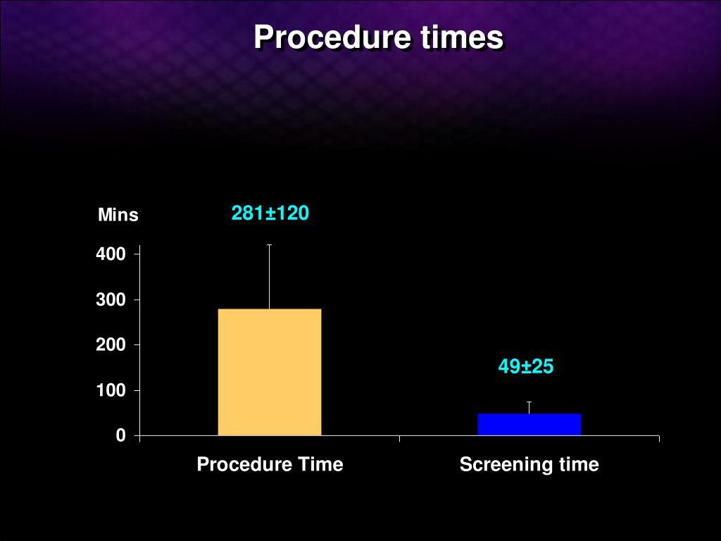 Procedure times
