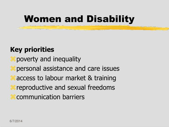 Disability and sexuality ppt