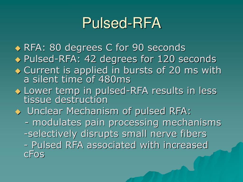 Pulsed-RFA