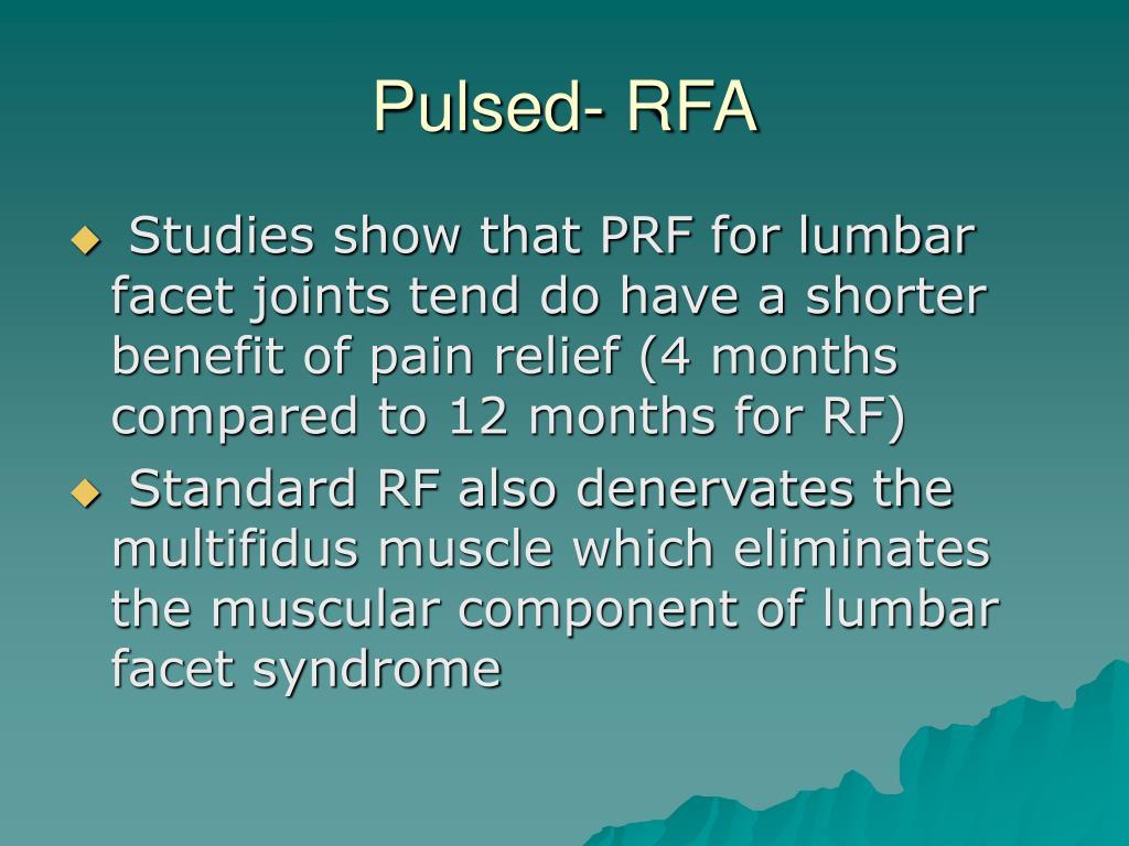 Pulsed- RFA