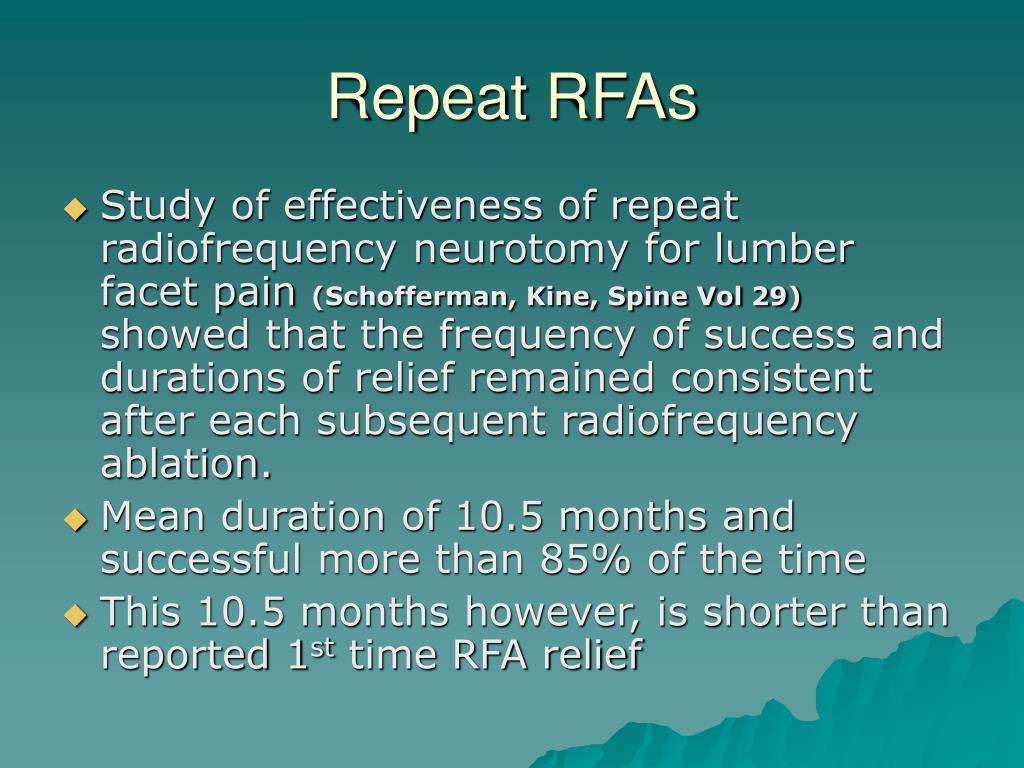 Repeat RFAs