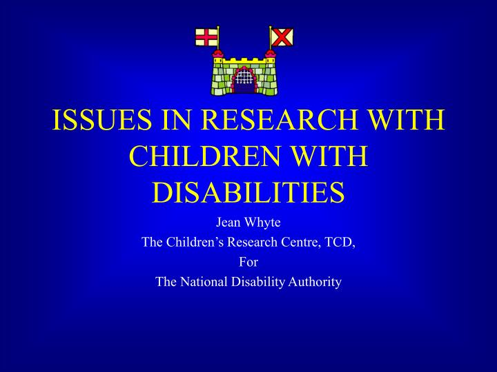 issues in research with children with disabilities n.