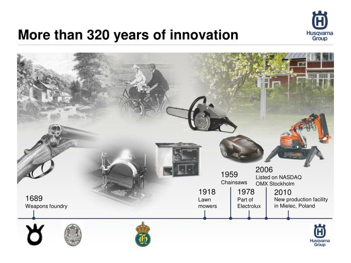 More than 320 years of innovation