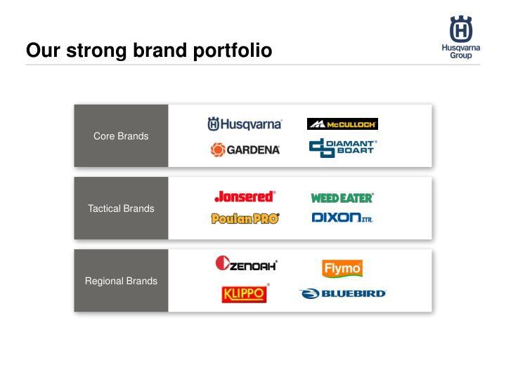 Our strong brand portfolio