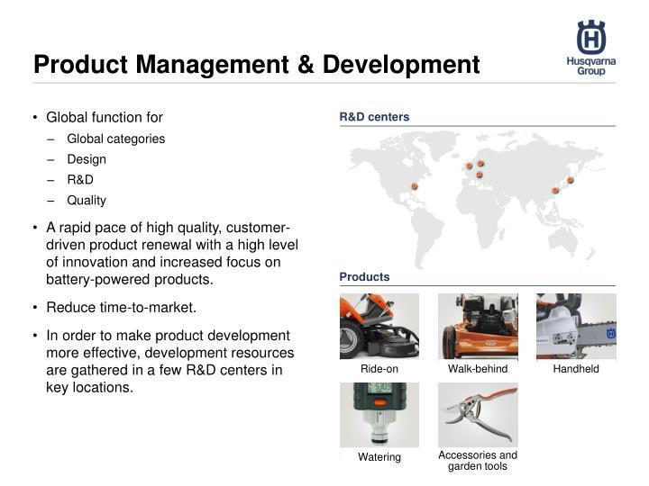 Product Management & Development