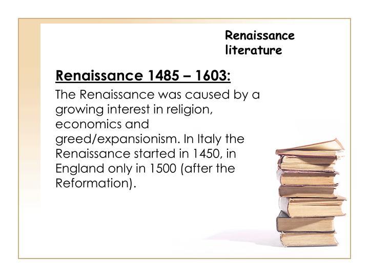 Renaissance literature1