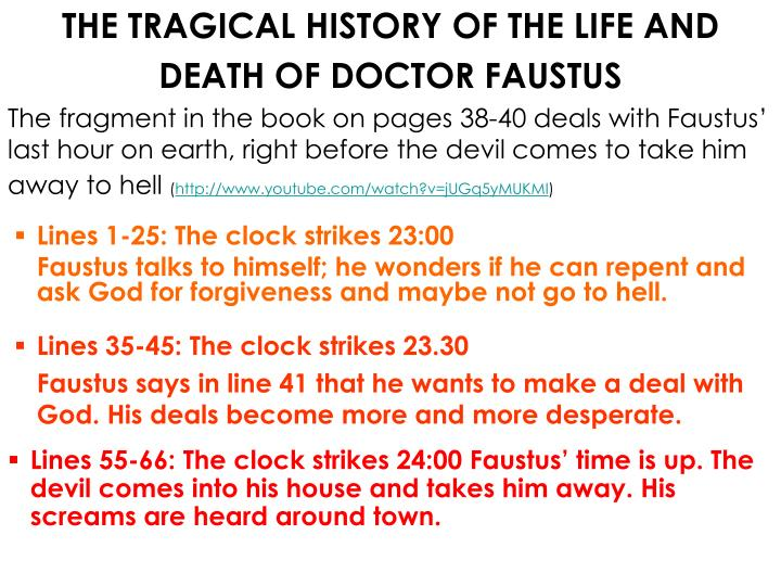 THE TRAGICAL HISTORY OF THE LIFE AND