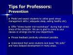 tips for professors prevention