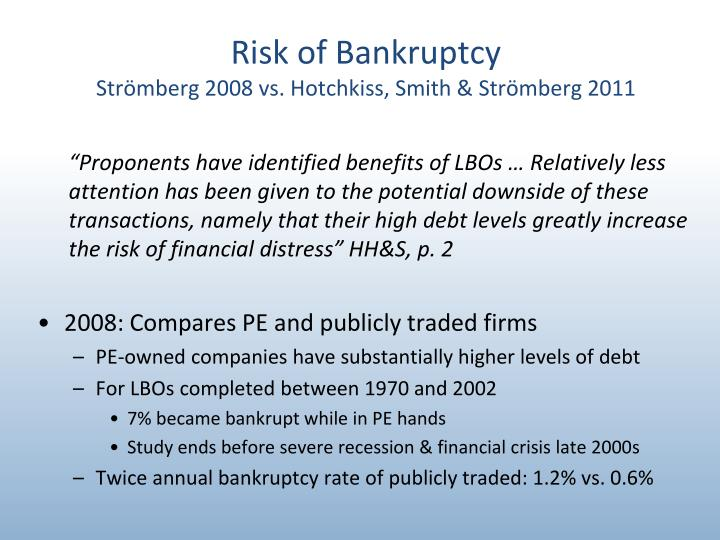 financial distress bankruptcy essay Chapter 22 bankruptcy and financial distress l 889 are still greater than its liabilities, but it is confronted with a liquidity crisisif some of its assets can be converted into cash within a reasonable period, the com.
