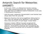 antarctic search for meteorites ansmet