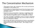 the concentration mechanism