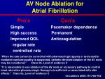 av node ablation for atrial fibrillation