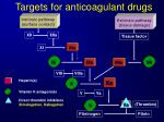 targets for a nticoagulant d rugs