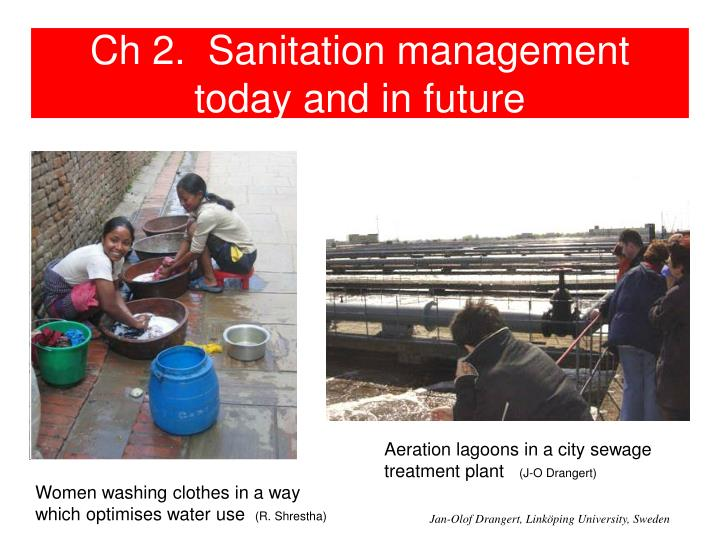ch 2 sanitation management today and in future n.