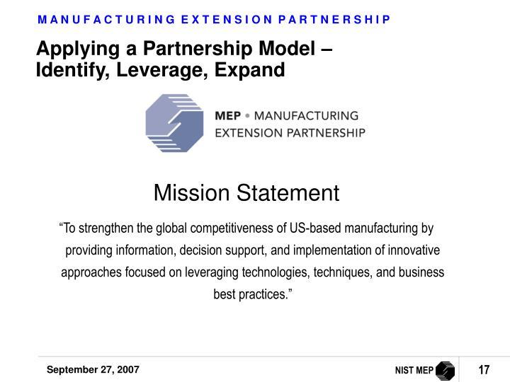Applying a Partnership Model –