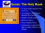 quran the holy book