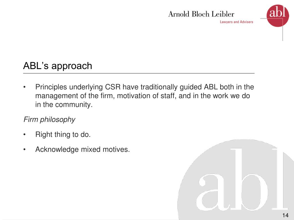 ABL's approach