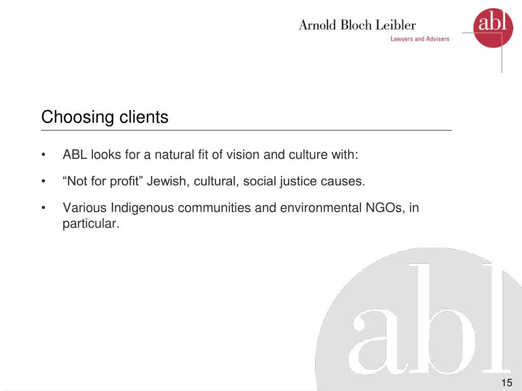 Choosing clients