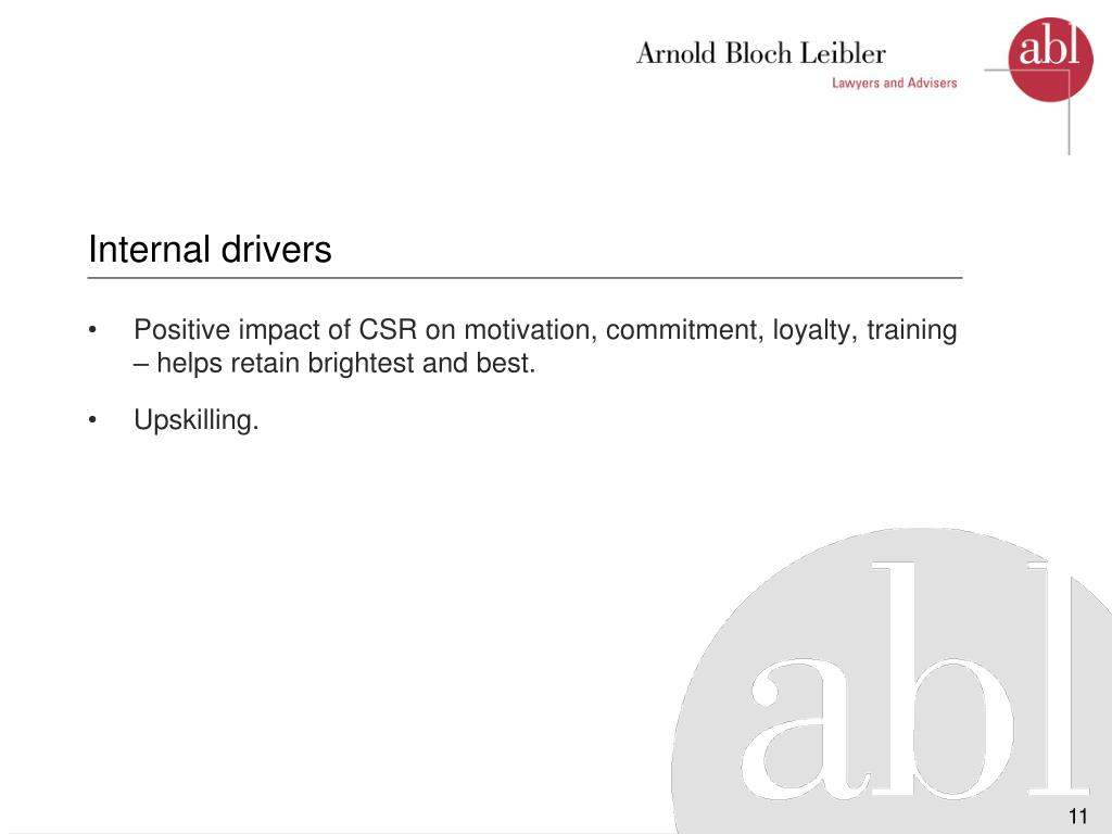 Internal drivers