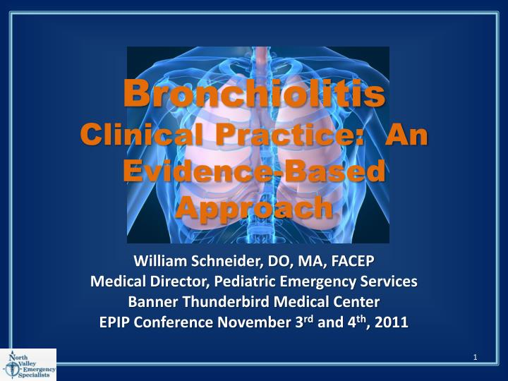 bronchiolitis clinical practice an evidence based approach n.
