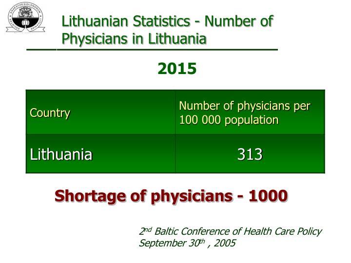 Lithuanian Statistics