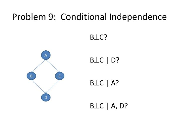 Problem 9:  Conditional Independence
