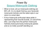 power by scoyco motorcycle clothing
