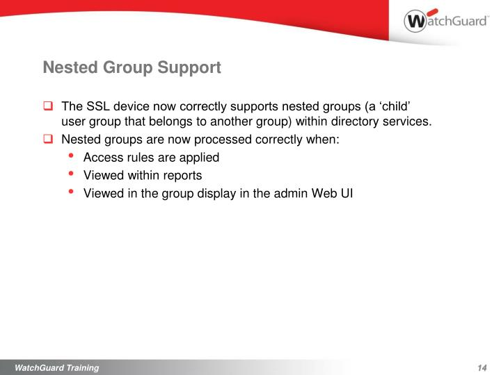 Nested Group Support