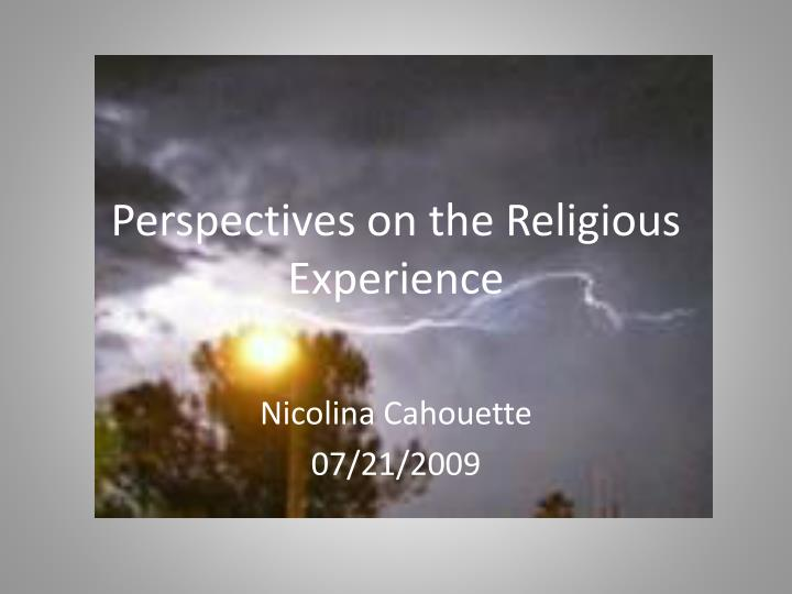 perspectives on the religious experience n.