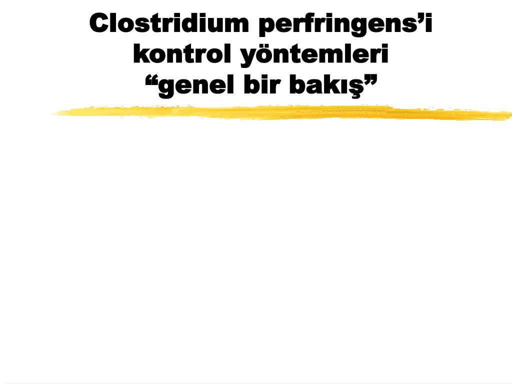 clostridium perfringens i kontrol y ntemleri genel bir bak l.
