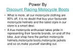 power by discount racing motocycle boots