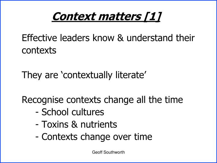Context matters [1]