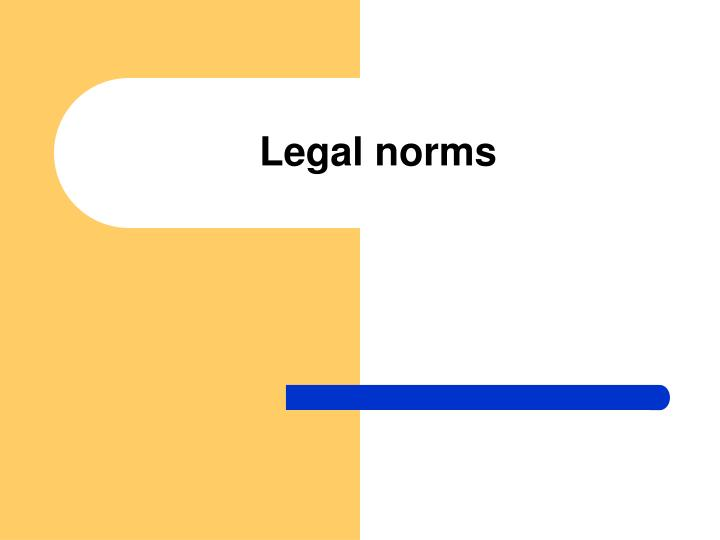 legal norms n.