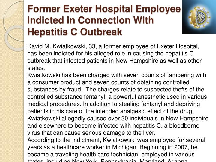 Former Exeter Hospital Employee Indicted in Connection With