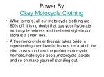 power by okey motocycle clothing