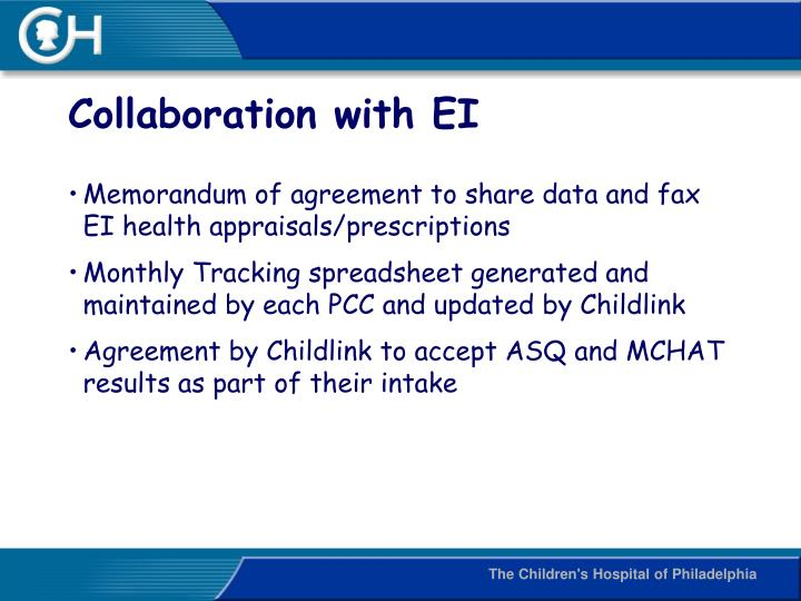 Collaboration with EI