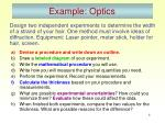 example optics