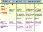 rubrics guidelines and assessment