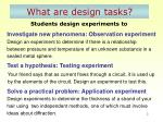 what are design tasks