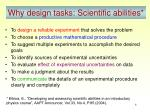 why design tasks scientific abilities