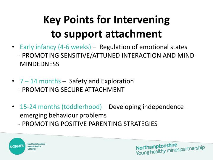 Key Points for Intervening