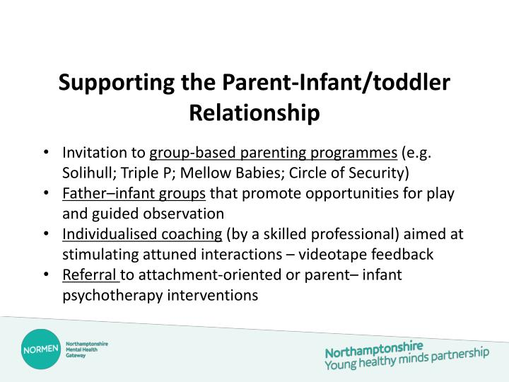Supporting the Parent-Infant/toddler Relationship
