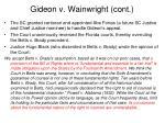 gideon v wainwright cont