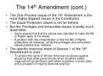 the 14 th amendment cont7