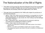 the nationalization of the bill of rights