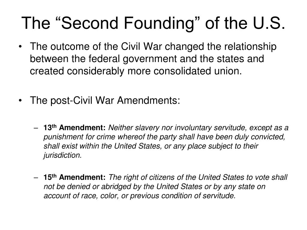"""The """"Second Founding"""" of the U.S."""