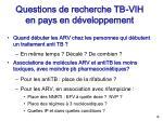 questions de recherche tb vih en pays en d veloppement16